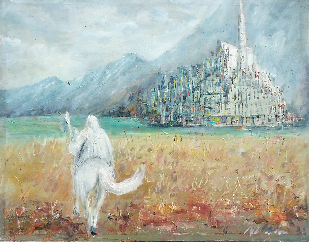 Gandalf Oil Painting, Lord of the Rings Wall Art, Handmade Fantasy ...